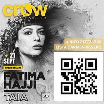 anuncio fatima hajji en crow techno club madrid