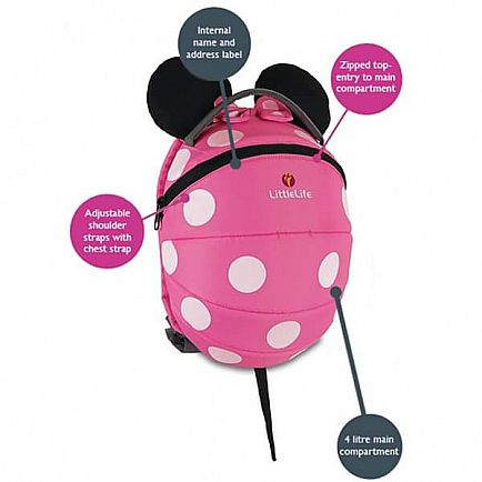 anuncio minnie mochila antiperdida / littlelife infant rucksack